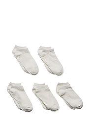 NKNFOOTIE 5P WHITE NOOS - BRIGHT WHITE