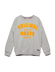 NKMBARUR LS SWEAT UNB - GREY MELANGE