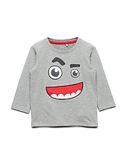 NMMKIRK LS TOP BOX - GREY MELANGE