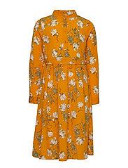 NKFVINAYA LS LONG DRESS K - GOLDEN ORANGE