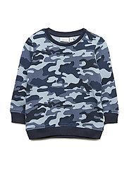Nbmkecamo Sweat Bru Sweat-shirt Tröja Blå NAME IT