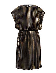 NKFRIA PLEAT CAPSL DRESS - BLACK