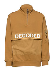 NKMBALDVIN  LS SWEAT UNB - BONE BROWN