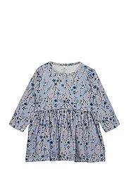 NBFTESSIE LS DRESS - DUSTY BLUE
