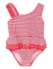 NMFZANANA SWIMSUIT - FIERY CORAL