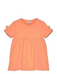 NMFFARHANA LIGHT SWEAT DRESS UNB - CANTALOUPE