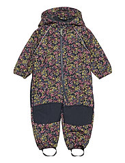NMFALFA SUIT FLORAL FO - MIDNIGHT NAVY