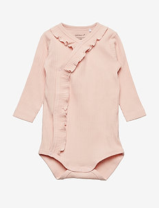 NBFTRUNTE LS WRAP BODY NOOS - STRAWBERRY CREAM