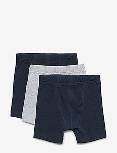 NMMTIGHTS 3P SOLID GREY MELANGE NOOS - shorts et pantalons - grey melange