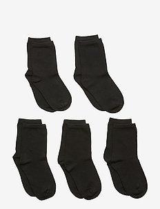 NMNSOCK 5P BLACK NOOS - strømper - black