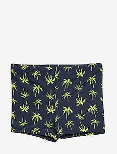 NMMZHARKU SWIM TIGHTS CAMP - shorts de bain - lemon tonic