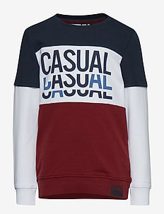 NKMLOMAR LS SWEAT BOX BRU - CABERNET