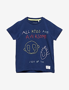 NMMKIDS SS TOP BOX - BLUE DEPTHS