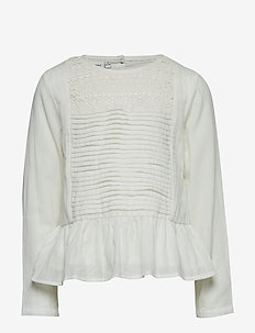 NKFLOVE LS BLOUSE - SNOW WHITE