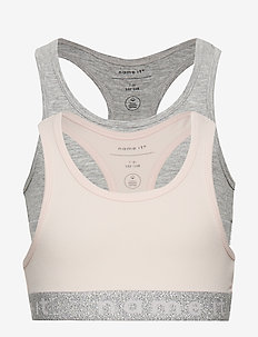 NKFSHORT TOP 2P BARELY PINK LUREX NOOS - BARELY PINK