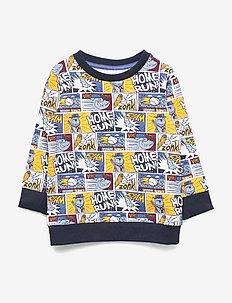 NMMOTOON LIGHT SWEAT BRU - SNOW WHITE