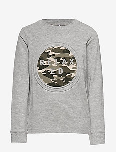 NKMOTREVOR LS TOP - GREY MELANGE