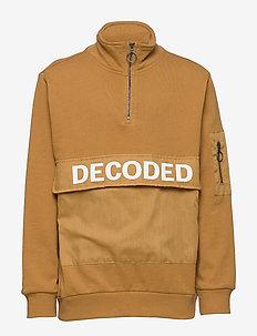 NKMBALDVIN  LS SWEAT UNB - sweatshirts - bone brown