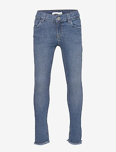 NKFPOLLY DNMTEJA 2324 ANCLE PANT NOOS - jeans - medium blue denim