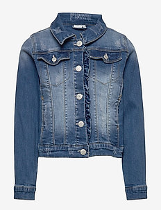 NKFTEGANI  DNM 2278 JACKET NOOS - denim & corduroy - medium blue denim