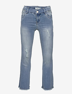 NKFPOLLY DNMTOFIA1314 BOOT 7/8 PANT NOOS - jeans - light blue denim