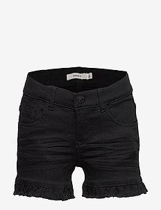 NKFSALLI DNMTACILLE 7301 SHORTS - shorts - black denim