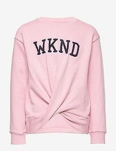 NKFBERETHE LS SWEAT BOX UNB - sweatshirts - pink nectar