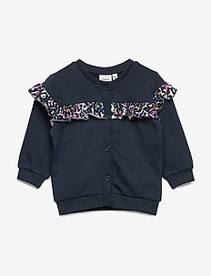 NBFTIVE SWEAT CARD BRU BOX - cardigans - dark sapphire