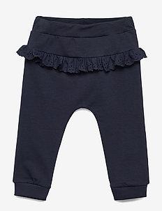 NBFBERIT SWEAT PANT UNB - leggings - dark sapphire