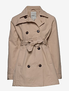 NKFMETRINE TRENCH COAT - WHITE PEPPER