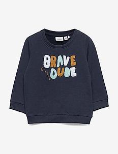 NBMBIBRAVE LS SWEAT UNB - sweatshirts - dark sapphire