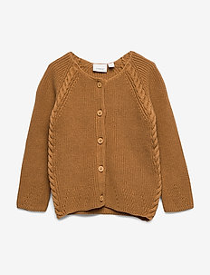 NBFTIMILLE LS KNIT CARD - cardigans - bone brown