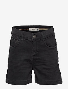 NKFRANDI DNMCILLE 7159 HW SHORTS CAMP - shorts - black denim