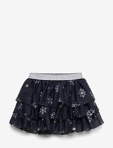 NMFAUBREE TULLE SKIRT NON LIC - skirts - dark sapphire