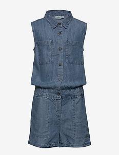 NKFBATYTTE DNM 1350 S/S SUIT - jumpsuits - light blue denim