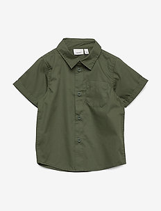 NMMFINDUS SS SHIRT CAMP - chemises - ivy green