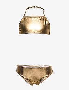 NKFZUALA GOLD BIKINI - bikinis - gold colour