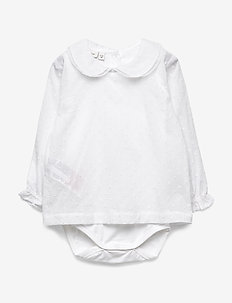 NBFDANIA LS BODY SHIRT - BRIGHT WHITE