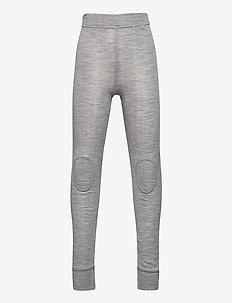 NKMWANG WOOL NEEDLE LONGJOHN XX - leggings - grey melange