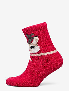 NKNRUFFLE TERRY SOCK - JESTER RED