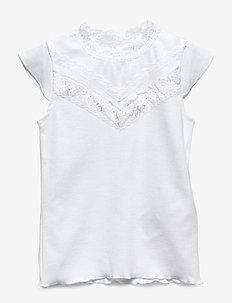 NMFFACILLE CAP SL SLIM TOP - BRIGHT WHITE