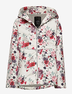NKFMAXI JACKET FLOWERS - SNOW WHITE
