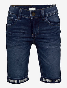 NKMSOFUS DNMTAX 3376 LONG SHORTS - shorts - dark blue denim