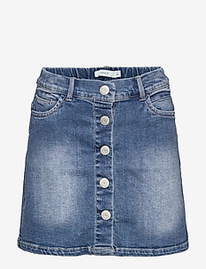 NKFTEGANI  DNM 2278 A-SHAPE SKIRT NOOS - jupes - medium blue denim