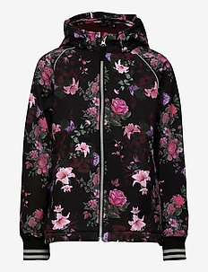 NKFALFA JACKET FLOWERS FO - bomber jackets - black