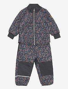 NMFQUILT TINY FLOWER SET FO - termokläder - ombre blue