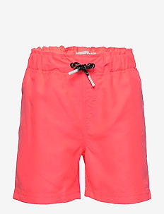NKMZANDROS SHORTS - shorts - neon coral