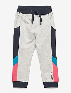 NMMHALLA LIGHT SWEAT PANT UNB - spodnie dresowe - light grey melange