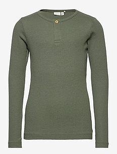 NKMKABILLE LS SLIM TOP NOOS - long-sleeved t-shirts - thyme