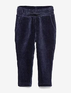 NMMROLANO VEL PANT - trousers - dark sapphire